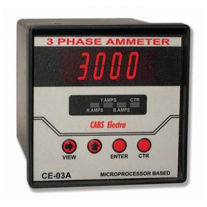 METRAVI CE-03A DIGITAL THREE PHASE AMMETER
